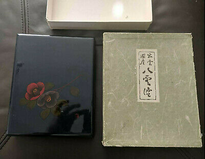 Vintage Oriental Chinese or Japanese Lacquer Photo Album in Box