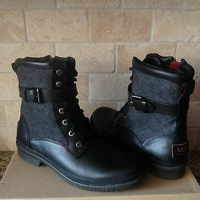 0ddb437c106 UGG KESEY BLACK Waterproof Leather Ankle Lace-Up Boots Shoes Size Us 10  Womens