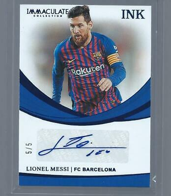 Lionel Messi 2018-19 Immaculate Soccer Auto Ink #d 5/5 FC BARCELONA SP ONLY /5