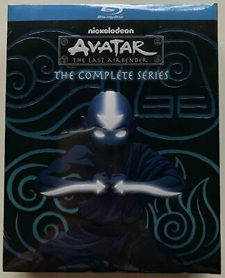 New Avatar The Last Airbender The Complete Series Blu Ray 9 Disc Set + Slipcover