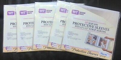 NEW LOT OF 5 Westrim Crafts 12X12 Slip On Protective Sleeves Creative Memories