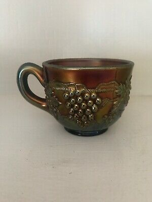 """Northwood Grape and Cable Amethyst Carnival Glass Punch Cup 2 1/2"""" Purple"""