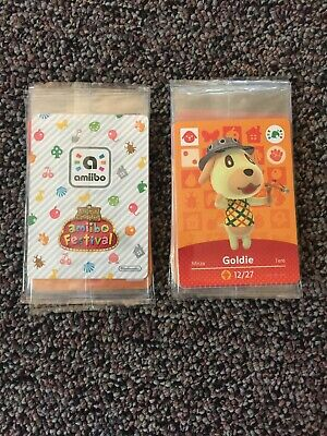 Animal Crossing Amiibo Festival SEALED 3-Card Promo Pack GOLDIE STITCHES ROSIE