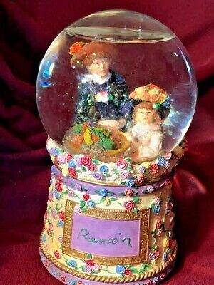 Collectible - Snow Globe - Renoir Two Sisters On The Terrace - Musical - Pretty
