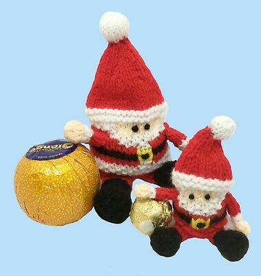 KNITTING PATTERN: Christmas Santa chocolate holders / Christmas toys