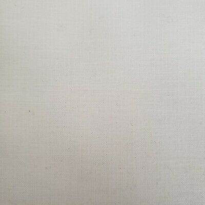 "100% Cotton Broadcloth Fabric 45"" Inches Solid 4+ yards bright white"
