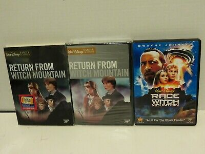 RETURN FROM WITCH MOUNTAIN 1978 DVD (New !) & RACE TO WITCH MOUNTAIN 2009