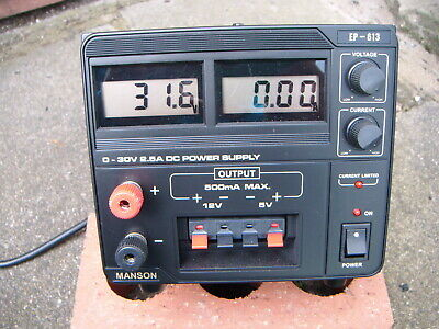 EP-613 0-30V Variable Power Supply 0-2.5A current with separate +12V and +5V