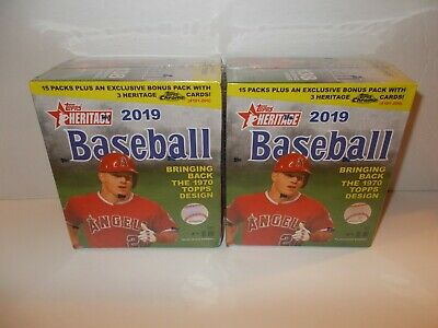 2019 Topps Heritage Baseball Mega Box (2) BOXES - FACTORY SEALED