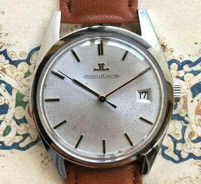 Jaeger Lecoultre Champagne Gold Dial Date Vintage Hand winding Watch Overhauled