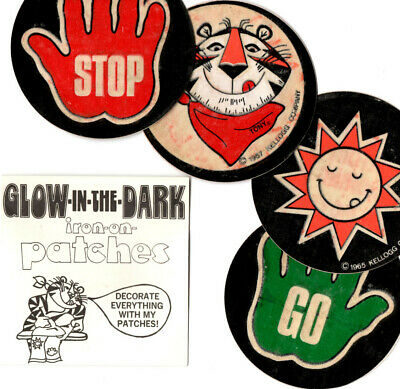 Kelloggs Glow In The Dark Iron-On Patches, Set Of 4