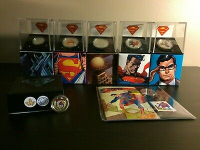 Set of 7 Superman coins 2013 (incl. gold coin) + 2 RCM magazines