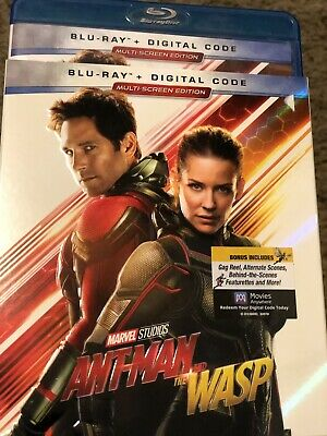 Ant-Man and the Wasp (Blu-ray Disc, 2018, Includes Digital Copy)LIKE NEW