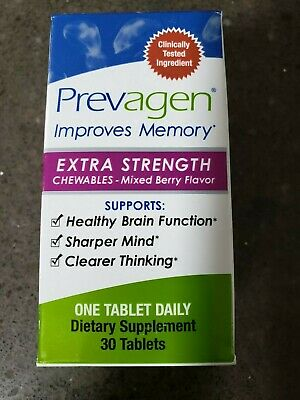 PREVAGEN EXTRA STRENGTH CHEWABLES 30 TABLETS - IMPROVES MEMORY - Mixed Berry