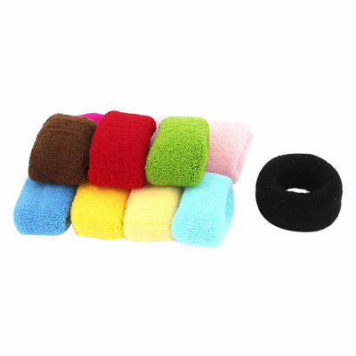12 Pcs   Elastic Hair Ties Band Rope Ponytail Holder Scrunchie Assorted Color