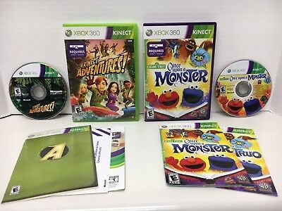 Microsoft XBOX 360 Sesame Street Once Upon A Monster & Kinect Adventures