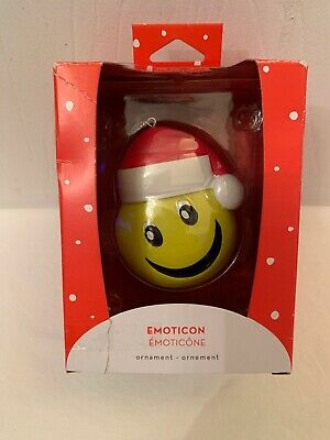 RARE American Greetings Smiley Face EMOTICON Heirloom Christmas Ornament NICE!