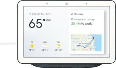 """Google Nest Home Hub with Google Assistant 7"""" Smart - Charcoal / Black - NEW"""