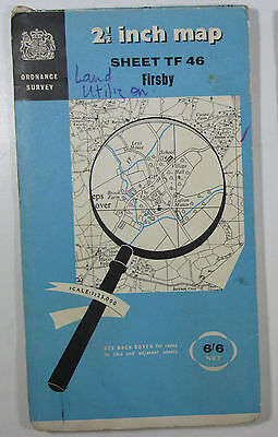 1959 old vintage OS Ordnance Survey 1:25000 First Series map TF 46 Firsby