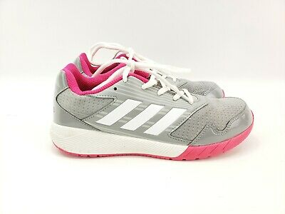 Adidas Alta Run  Running Shoes Grey Pink White BA9424 Girls Kids Youth 6