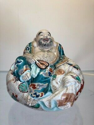 Antique Japanese Ware Porcelain Kutani Satsuma Figure Meiji Buddha 19th Century