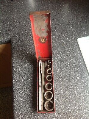Vintage Britool Socket Set Whitworth In Tin