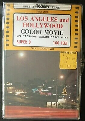 Finley's Holiday Films Los Angeles & Hollywood Color Movie Super 8 Eastman Print