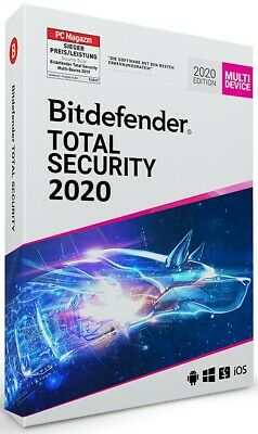 Bitdefender Total Security 2020 Multi Device [1 Jahr | 3 Geräte] 2019