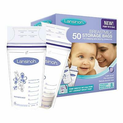 Lansinoh Breast Milk Storage Bags Breastmilk Pouches 50 Piece Pack NEW & FAST