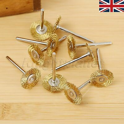 SALE 20pcs Brass Wire Wheel Brushes Polishing Power Rotary Drill Grinder Tool