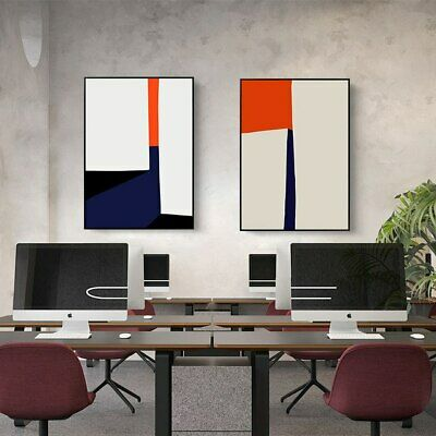 White Abstract Nordic Wall Decorations 2 Piece Wall Art Canvas Print (UNFRAMED)