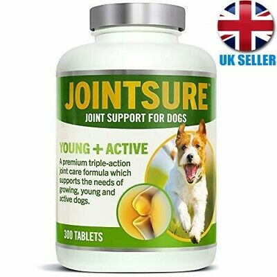 JOINTSURE Young Active Joint Supplements for Dogs Triple action Glucosamine UK