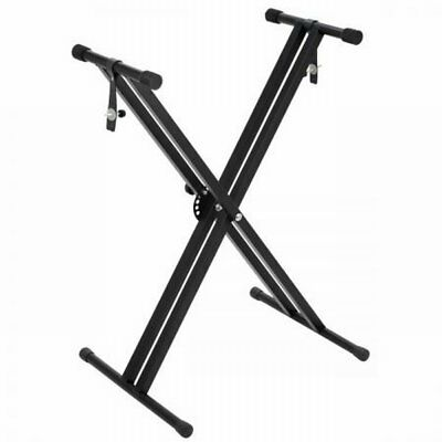 NEW Sturdy Double Braced X Type Holder Height Adjustable Iron Keyboard Stand