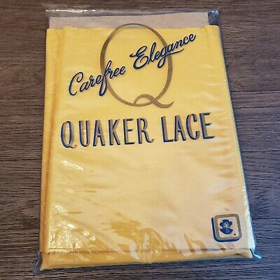 Vintage Carefree Elegance Quaker Lace yellow Tablecloth Bardwil Quality 60 X 102