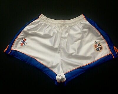 NEW Vintage Official Luton Town FC 1991/1992 Season Away Shiny Football Shorts