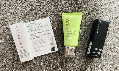 Becca Shimmering Skin Perfector Liquid in Opal & Cover FX Primer & Rodial Peel