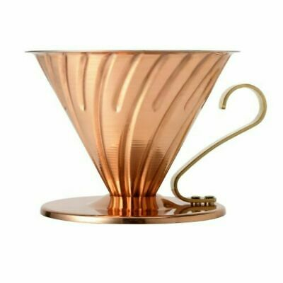 Hario V60 Metal Coffee Dripper Drip 1-4 VDP-02CP EUROPE SHIPPED!