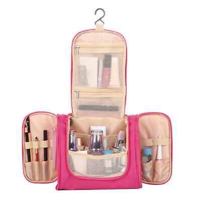 KF_ Travel Foldable Hanging Makeup Cosmetic Storage Wash Bag Toiletry Pouch No