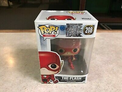 Funko POP! Figure NIB DC Justice League Movie THE FLASH #208 (DMG)