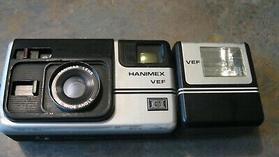 Vintage  Hanimex VEF Photography Camera with Hanimar F4 Angle Lens