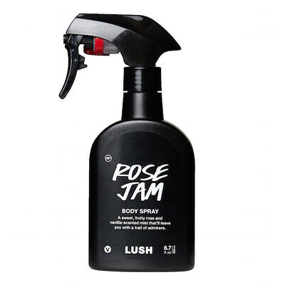 NEW LUSH Rose Jam Body Spray, Full Size 200ml RRP:£25 Fast Delivery