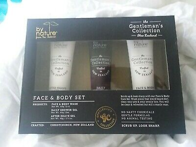 By Nature From New Zealand The Gentleman's Collection Face & Body Set