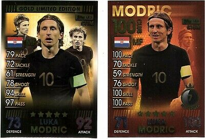 2019 Topps Match Attax 101 -MODRIC-100 CLUB AND GOLD LIMITED EDITION CARDS