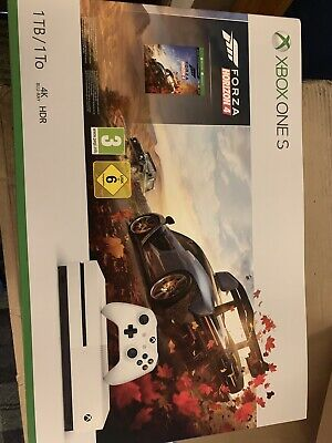 Microsoft Xbox One S 1TB White Console with Forza Horizon 4 (New and Sealed)