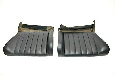 Genuine Porsche 911 1965-1969 Early Rear Seats Pair Dark Blue Leather USED 4
