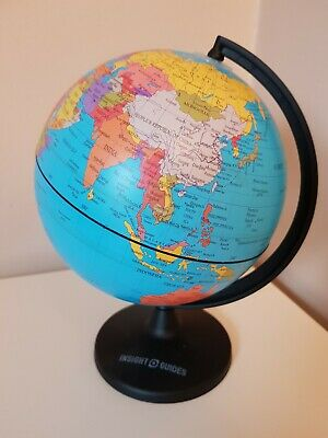 Insight Guides Coloured Rotating World Globe Atlas Approx 8""
