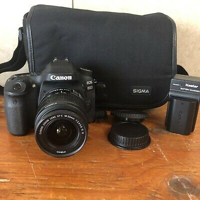 Canon EOS 80D Digital SLR Camera w/18-55mm  IS Lens