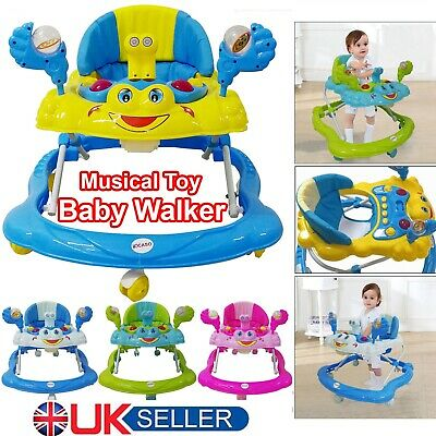 Baby Boy Baby Girl Walker Push Bouncer Activity Musical Melody Toy Along Ride On