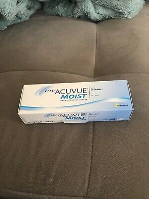 Acuvue Moist with Lacreon D -1.00 BC 8.5 DIA 14.2 1-Day Contact Lenses Brand New