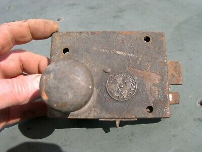 Early Rimlock Latch W Bissell Wolverhampton, With Brass Fittings, Suffolk Latch